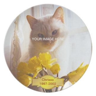 Memorial Cat Plate
