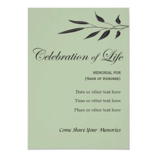 Memorial Celebration of Life Elegant Tree Invitati Card