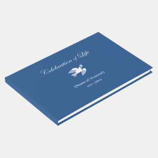 Memorial Celebration of Life Peace Dove Guest Book