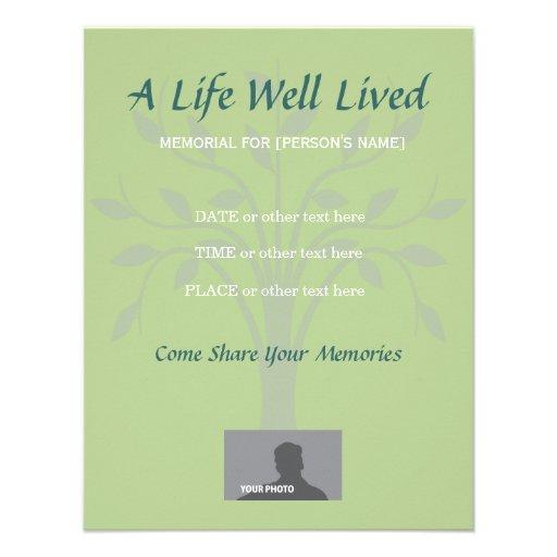Death announcement card templates