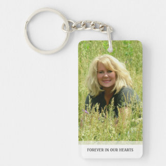 Memorial - Clouds on Back - They Are Where We Double-Sided Rectangular Acrylic Key Ring