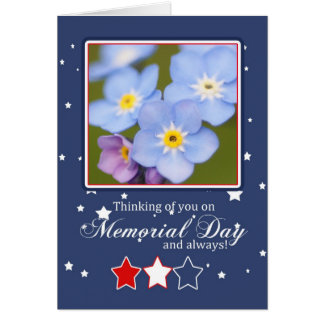 Memorial Day Card With Forget-Me-Not Flowers