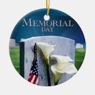 Memorial Day Ceramic Ornament