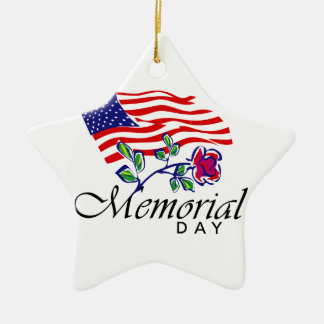 Memorial Day Ceramic Ornament