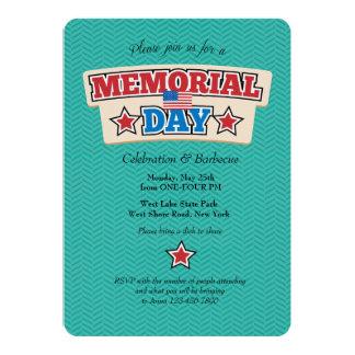 Memorial Day Chevron Invitation