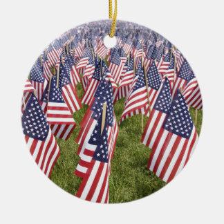 Memorial Day Flags Ceramic Ornament