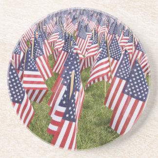 Memorial Day Flags Coaster