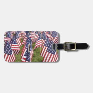 Memorial Day Flags Luggage Tag