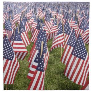Memorial Day Flags Napkin