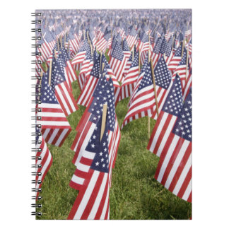 Memorial Day Flags Notebook