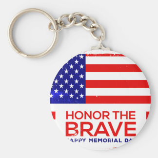 Memorial Day grunge Key Ring