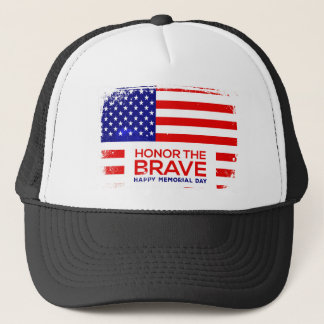 Memorial Day grunge Trucker Hat