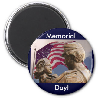Memorial Day Homecoming 6 Cm Round Magnet