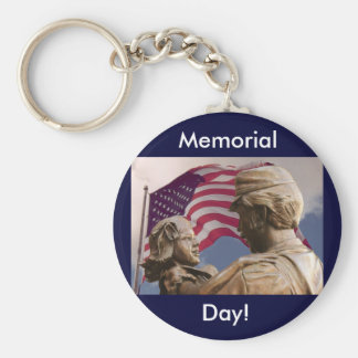 Memorial Day Homecoming Basic Round Button Key Ring