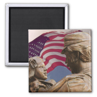 Memorial Day Homecoming Square Magnet