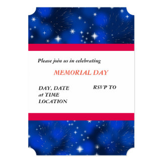Memorial Day Honors Memorial Day Party Invitations