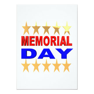 Memorial Day Personalized Announcement