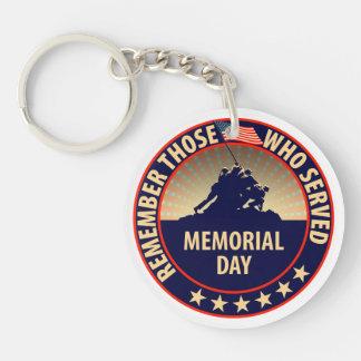 Memorial Day Key Ring