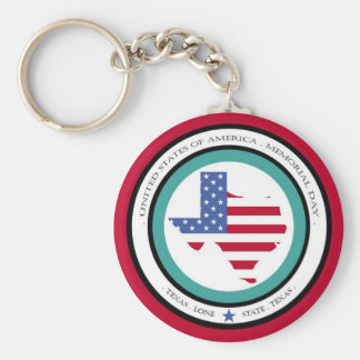 memorial day lone star state texas usa keychains