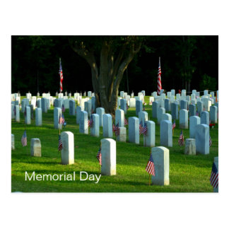 Memorial Day Natchez National Cemetery Postcard