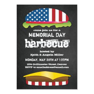 Memorial Day Patriotic BBQ Burger Card