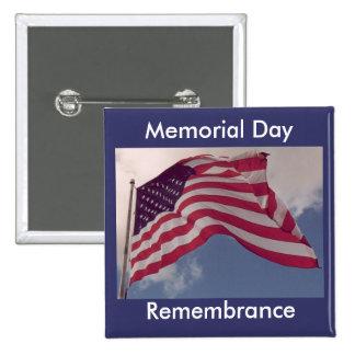 Memorial Day Remembrance 15 Cm Square Badge