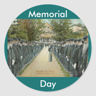 Memorial Day Review Classic Round Sticker