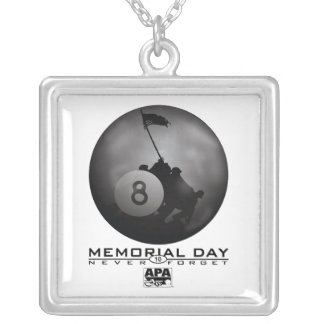 Memorial Day Silver Plated Necklace