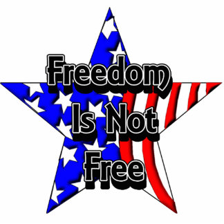 Memorial Day Tribute Freedom Is Not Free KeyChain Photo Sculpture Key Ring