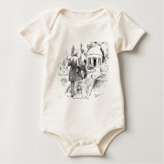 Memorial Day Uncle Sam Vintage Patriotic Cartoon Baby Bodysuit