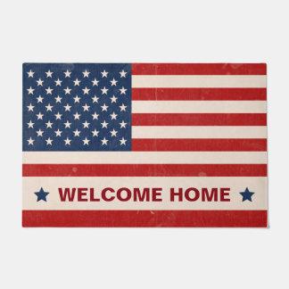 Memorial Day US American Flag Stars - Welcome Home Doormat