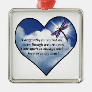 Memorial Dragonfly Poem Christmas Ornaments