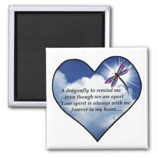 Memorial Dragonfly Poem Magnets