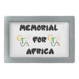 Memorial For Africa Accessories Belt Buckles