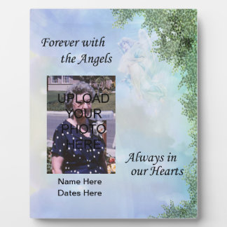 Memorial Forever with the Angels Plaque- Customize Plaque