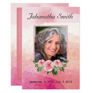 Memorial Funeral Card 9 Cm X 13 Cm Invitation Card