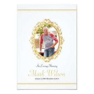 Memorial Funeral Program Card Template