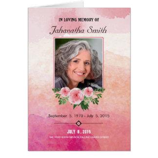 Memorial Funeral Program Template
