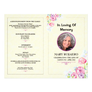 Funeral office supplies stationery for Funeral handouts template