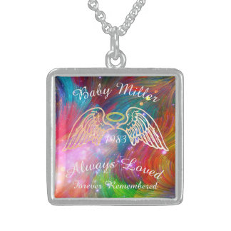 Memorial Keepsake Custom Pendant Rainbow