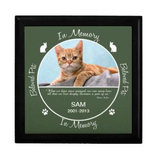 Memorial - Loss of Cat Large Square Gift Box