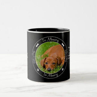 Memorial - Loss of Dog - Custom Photo/Name Two-Tone Coffee Mug