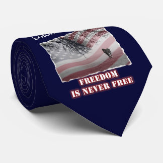 Memorial Necktie Honoring Soldier or Peace Officer
