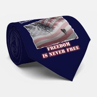 Memorial Necktie Honoring Soldier or Peace Officer