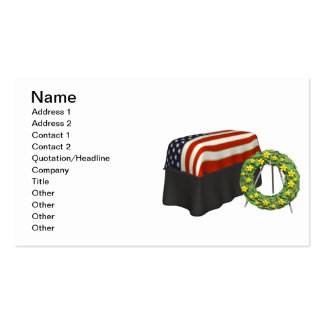 Memorial Pack Of Standard Business Cards