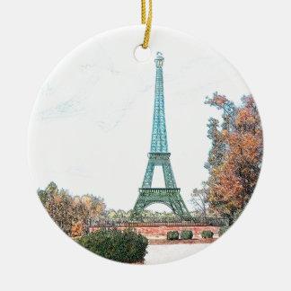 Memorial Park, Paris TN Round Ceramic Decoration