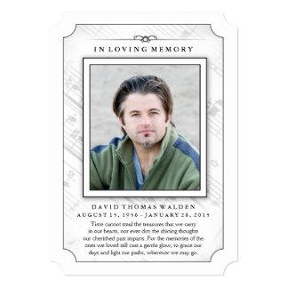 Memorial Photo Sympathy Thank You - Music Notes 13 Cm X 18 Cm Invitation Card