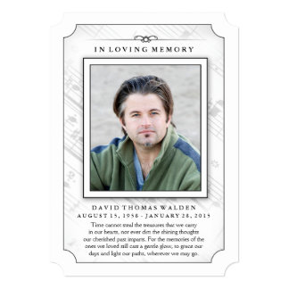 Memorial Photo Sympathy Thank You - Music Notes Card