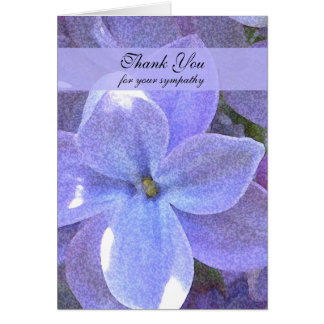 Memorial  Photo Thank You Note Card -- Lilacs