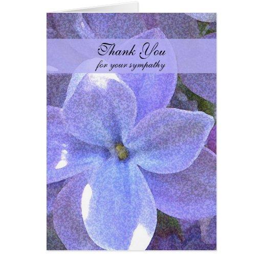 Memorial  Photo Thank You Note Card -- Lilacs